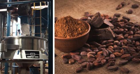 Industriell siktning av kakaopulver